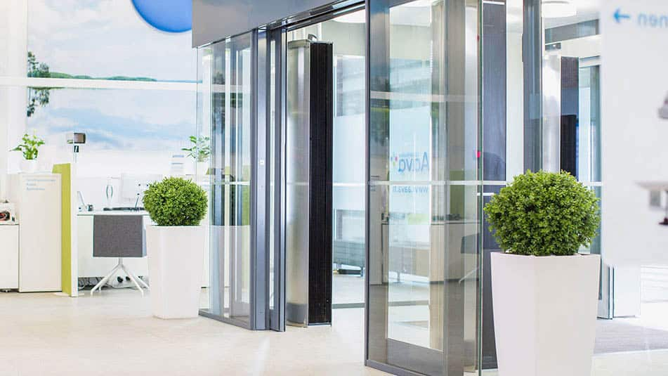 KONE automatic sliding doors maintain smooth people flow at Aava health service centre.